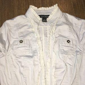 WHBM khaki light jacket 0 EUC
